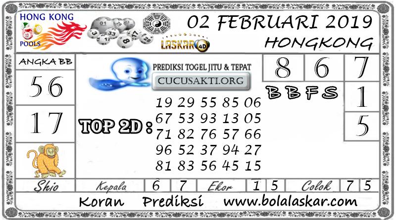Prediksi Togel HONGKONG LASKAR4D 02 FEBRUARI 2019