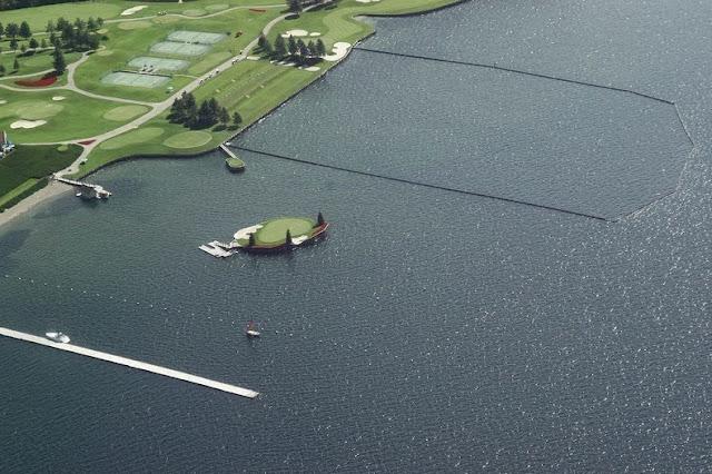 El Campo de Golf Flotante en el Coeur d'Alene Resort
