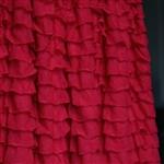 red ruffle shower curtain