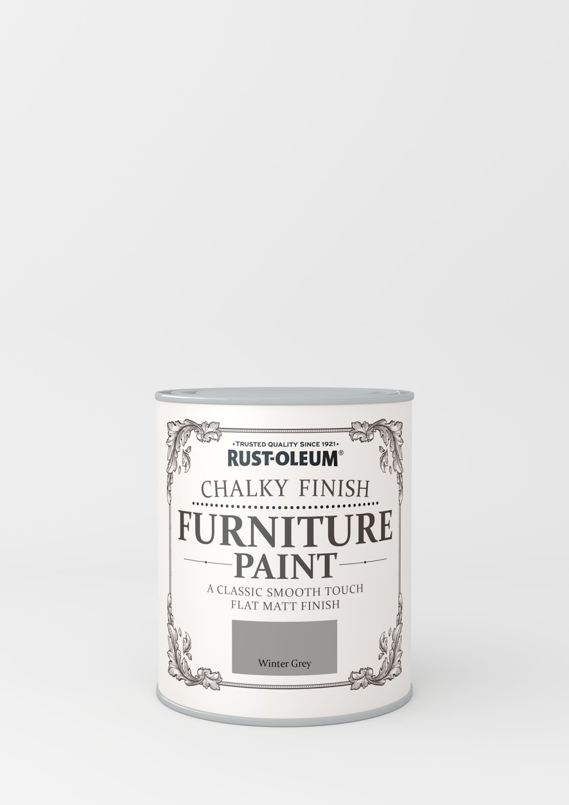 Rustoleum chalk furniture paint in Winter grey