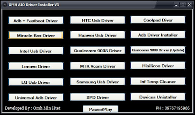 OMH Aio Driver Installer V3 USB drivers | Download all mobiles usb Drivers