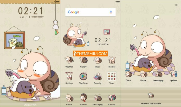 Diligent Snail Theme thememiui.com