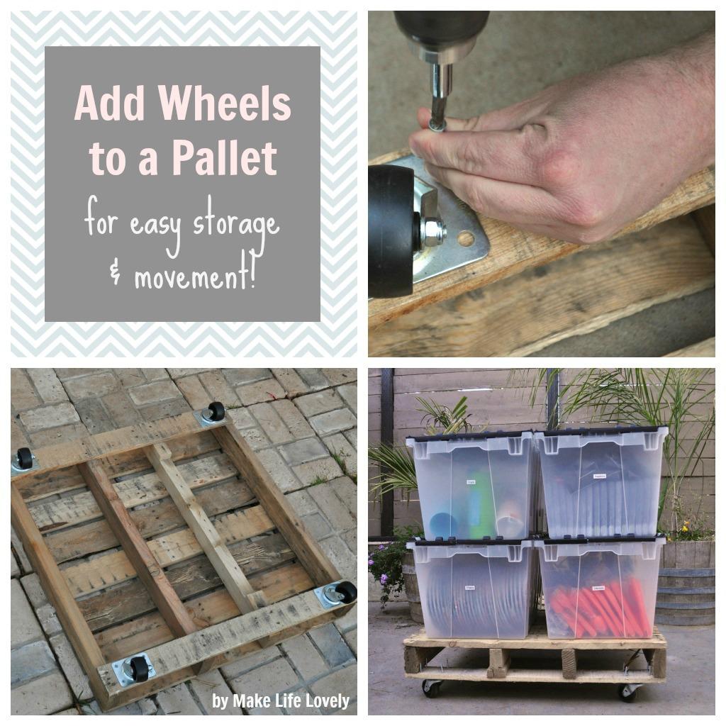 Pallet Storage Cart On Wheels