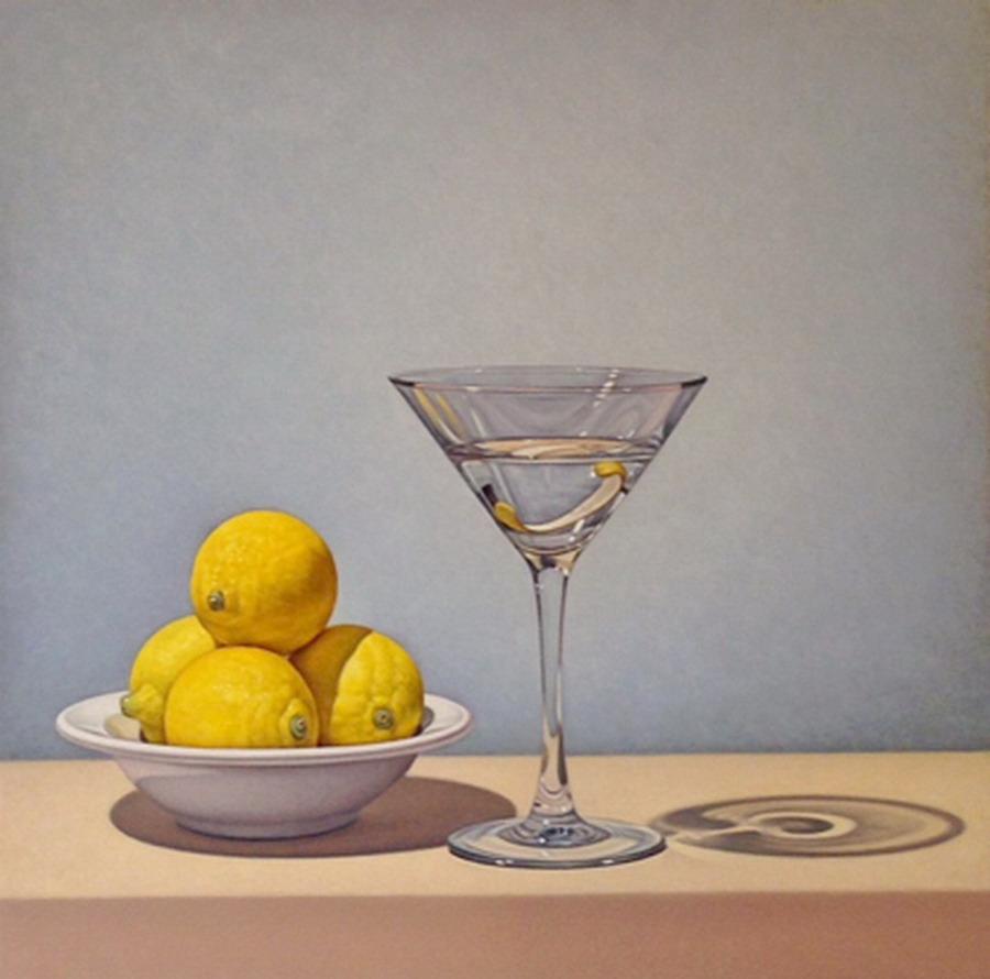 Im genes arte pinturas bodegones con frutas vasos y for Frutas de cristal