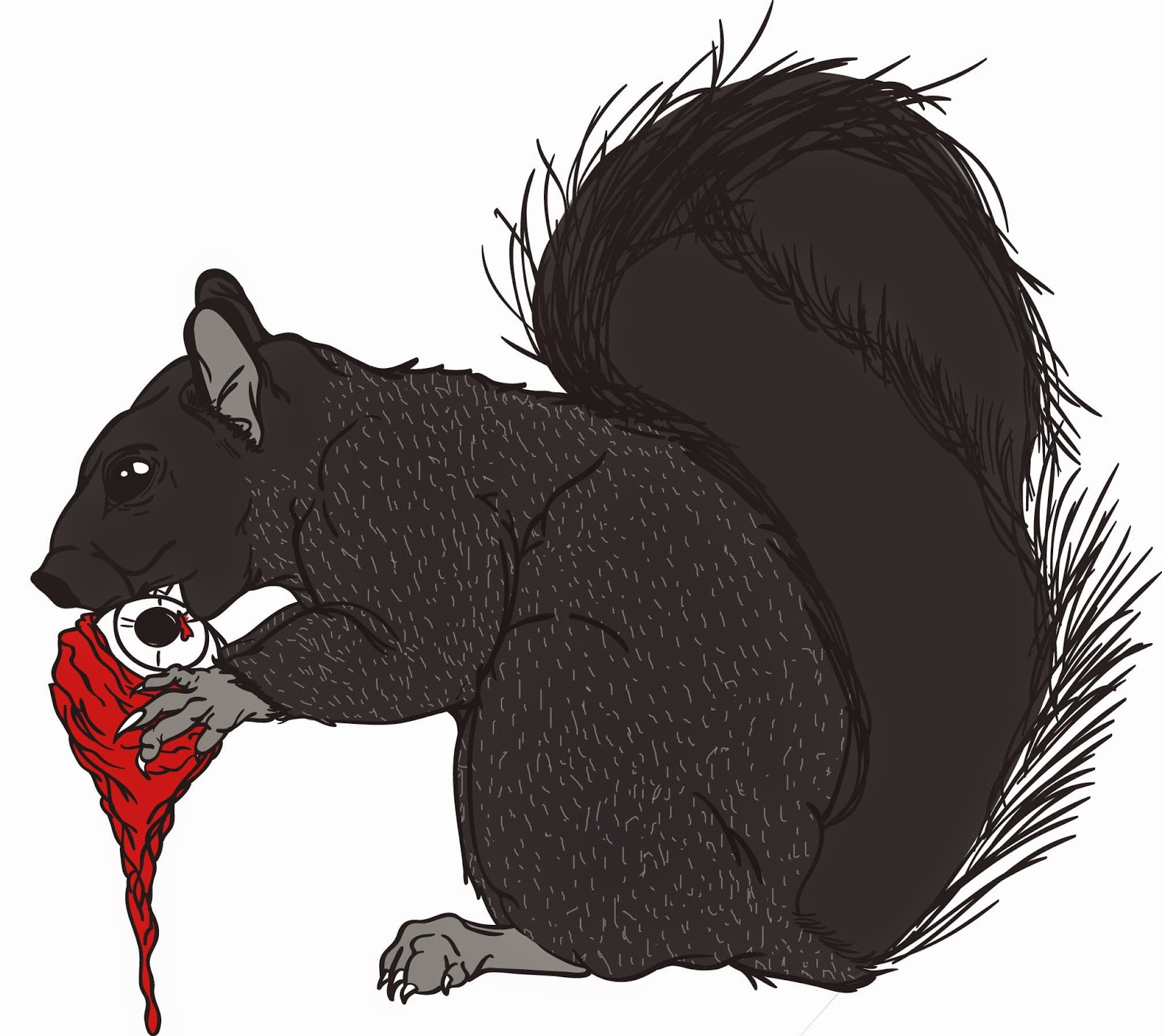 Printmaking And Illustration Blog Zombie Squirrel