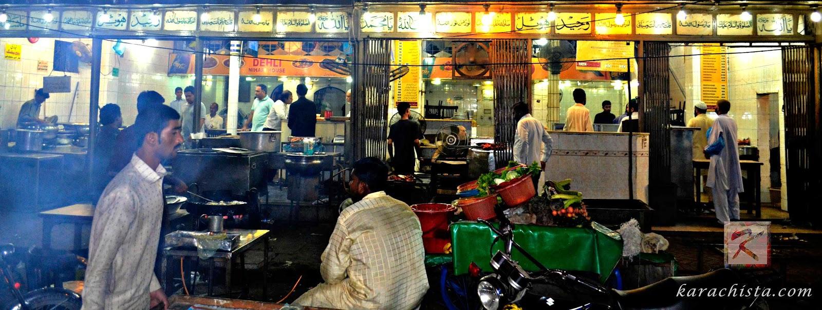 Waheed Kebab House off Burns Road in Karachi