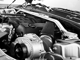 Dodge Challenger Procharger Engine Bay