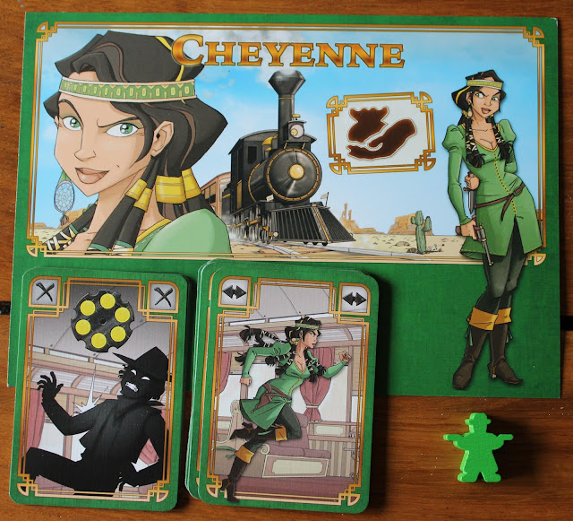 Cheyenne character card - Colt Express board game