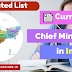 Current Chief Ministers in India Updated List