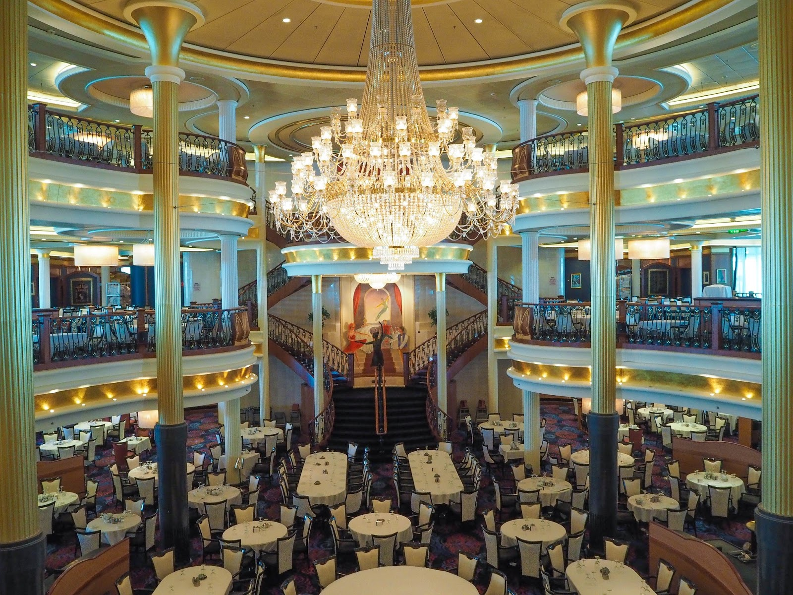 Dining room at Royal Caribbean's Navigator of the Seas Cruise Ship