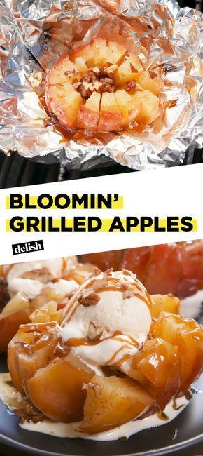 Bloomin Grilled Apples