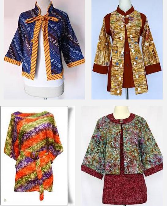 10 Model Baju Batik Muslim Atasan Wanita Terbaru 2018: 15+ Model Batik Kerja Modern 2018