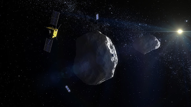 ESA's proposed Asteroid Impact Mission to the Didymos binary asteroid system will carry two 'CubeSat Opportunity Payloads (COPINS)' to support the science goals of the main spacecraft plus its lander, as well demonstrate deep space inter-satellite link techniques.