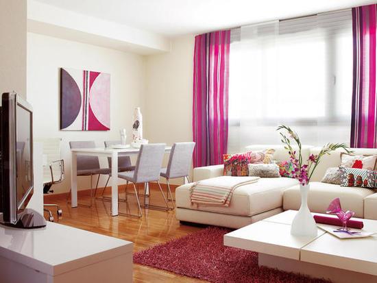 20 Fotos de salas decoradas em cor de rosa  Decorao e