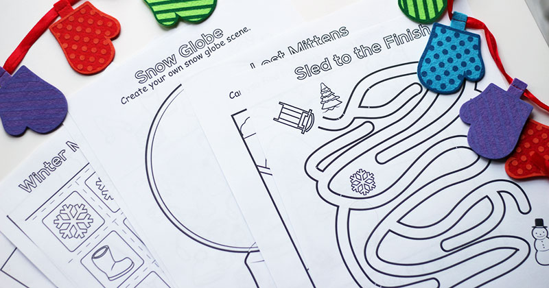 10 Free Printable Winter Coloring & Activity Pages | Sunny Day Family