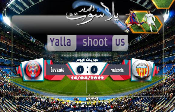 اهداف مباراة فالنسيا وليفانتي اليوم 14-04-2019 الدوري الاسباني