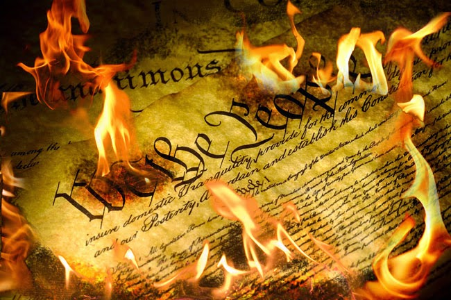 Image result for picture of the declaration of independence going up in flames