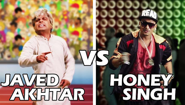 Yo Yo Honey Singh Vs Javed Akhtar Rap Battle