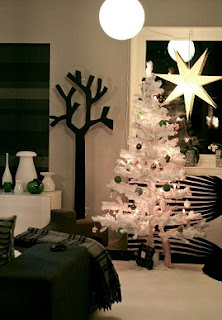 Sala en Navidad