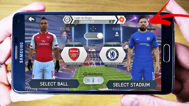 تحميل لعبة FIFA 14 MOD FIFA 18 للاندرويد بأحدث الانتقالات والاطقم ( اوباميانغ.كوتينيو.سانشيز )