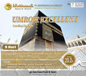 Umroh Khazzana Tour Exellent Bintang 5