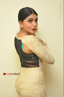 Actress Pooja Roshan Stills in Golden Short Dress at Box Movie Audio Launch  0121.JPG