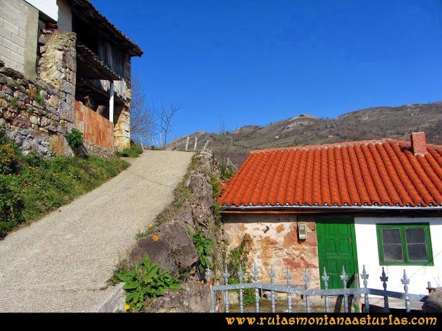 Ruta peña Manteca o Horru: Saliendo de San Esteban