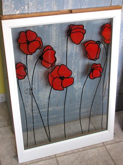 Painting On Glass Windows : Dishfunctional designs beautiful upcycled painted