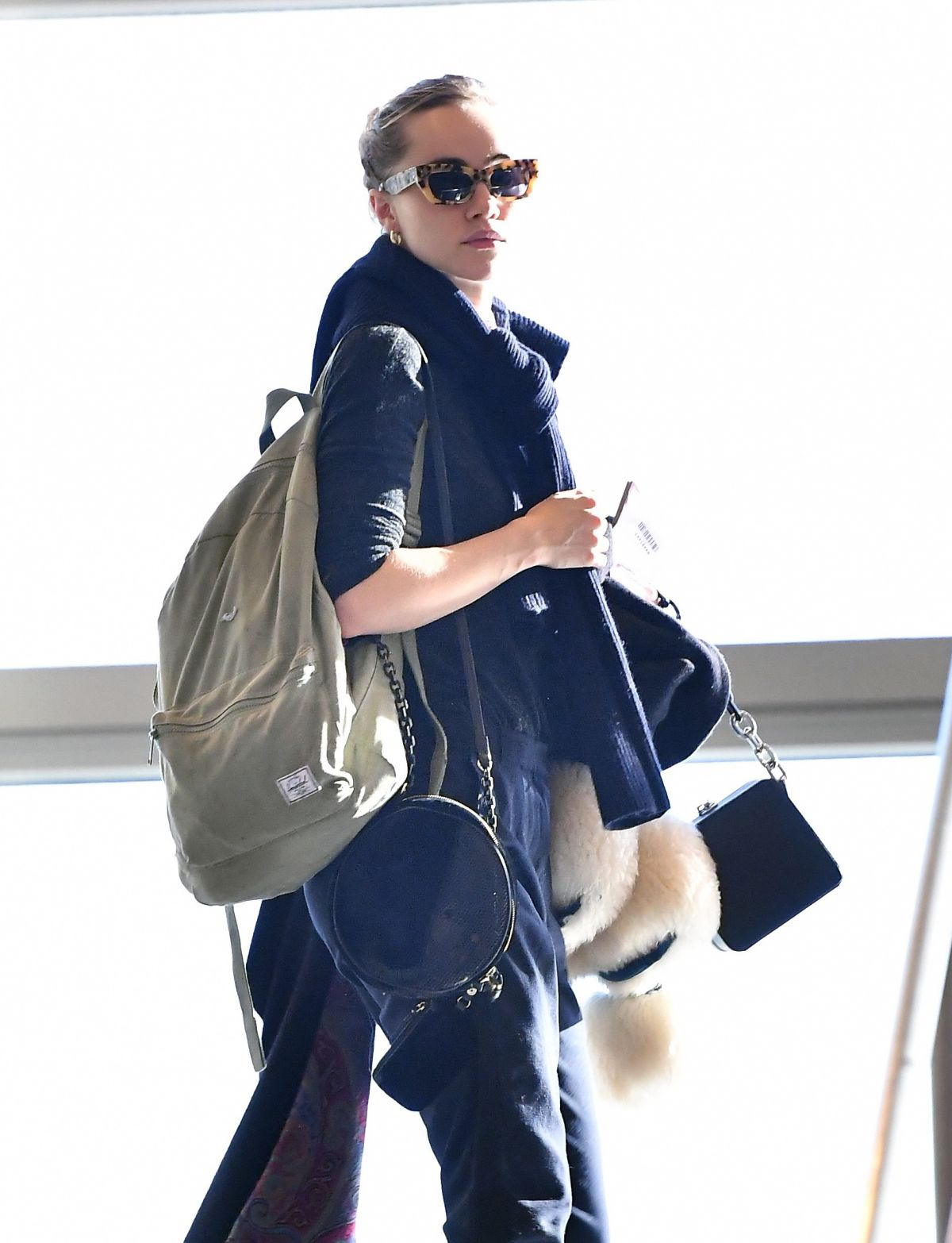 Photos of Suki Waterhouse at Los Angeles International Airport
