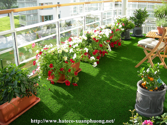 Không gian sống xanh tại dự án Hateco