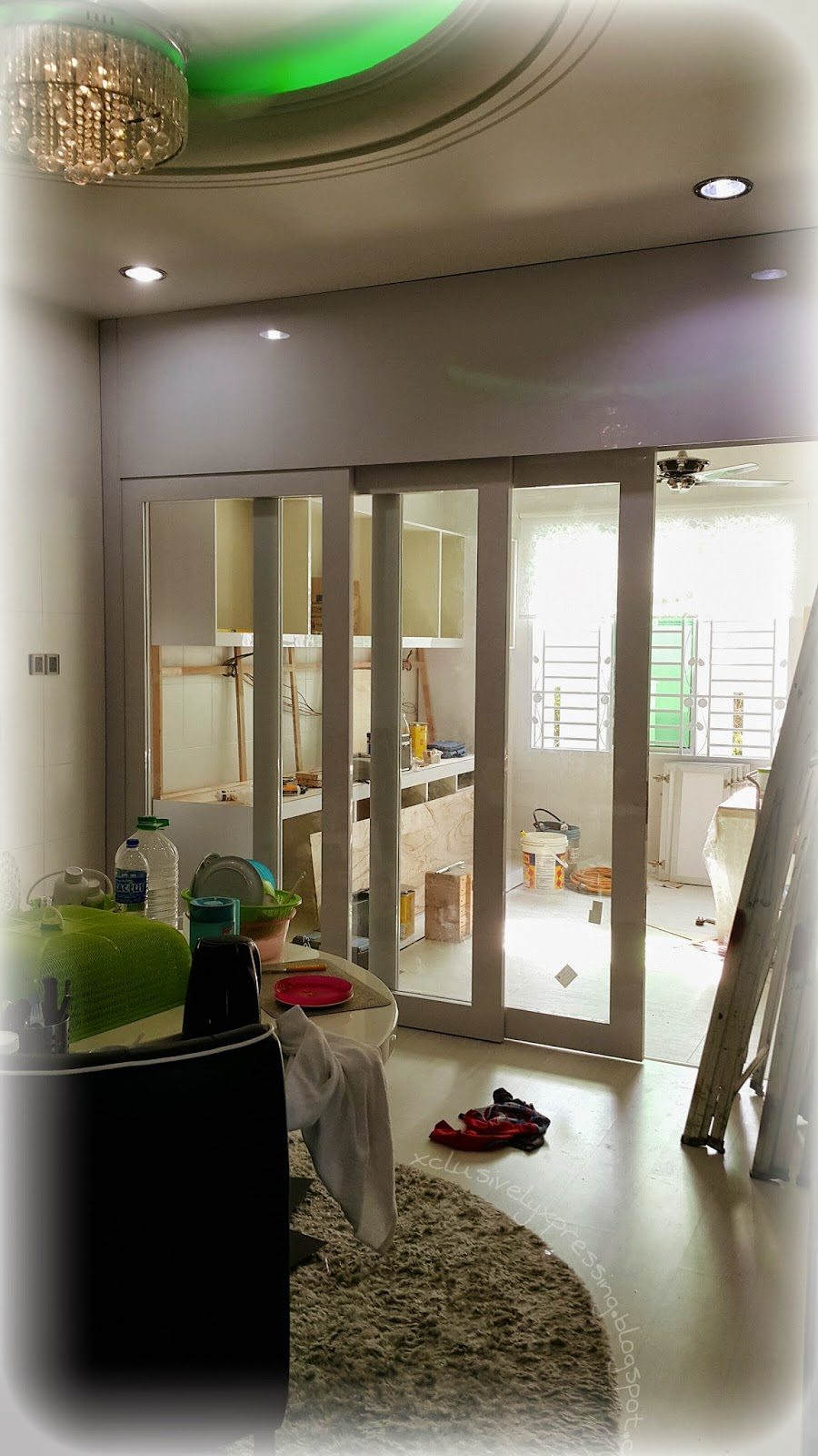 Ruang Antara Lantai Kayu Dan Tiles Dapur Tu Yang Saya Berangan Nak Pasang Indoor Sliding Door