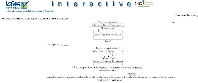 Consulta resultados concurso docentes icfes interactivo for Convocatoria concurso de docentes 2016