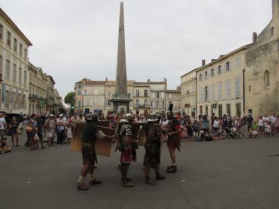 Foro romano de Arlés. obelisco de Arlés. La Camarga