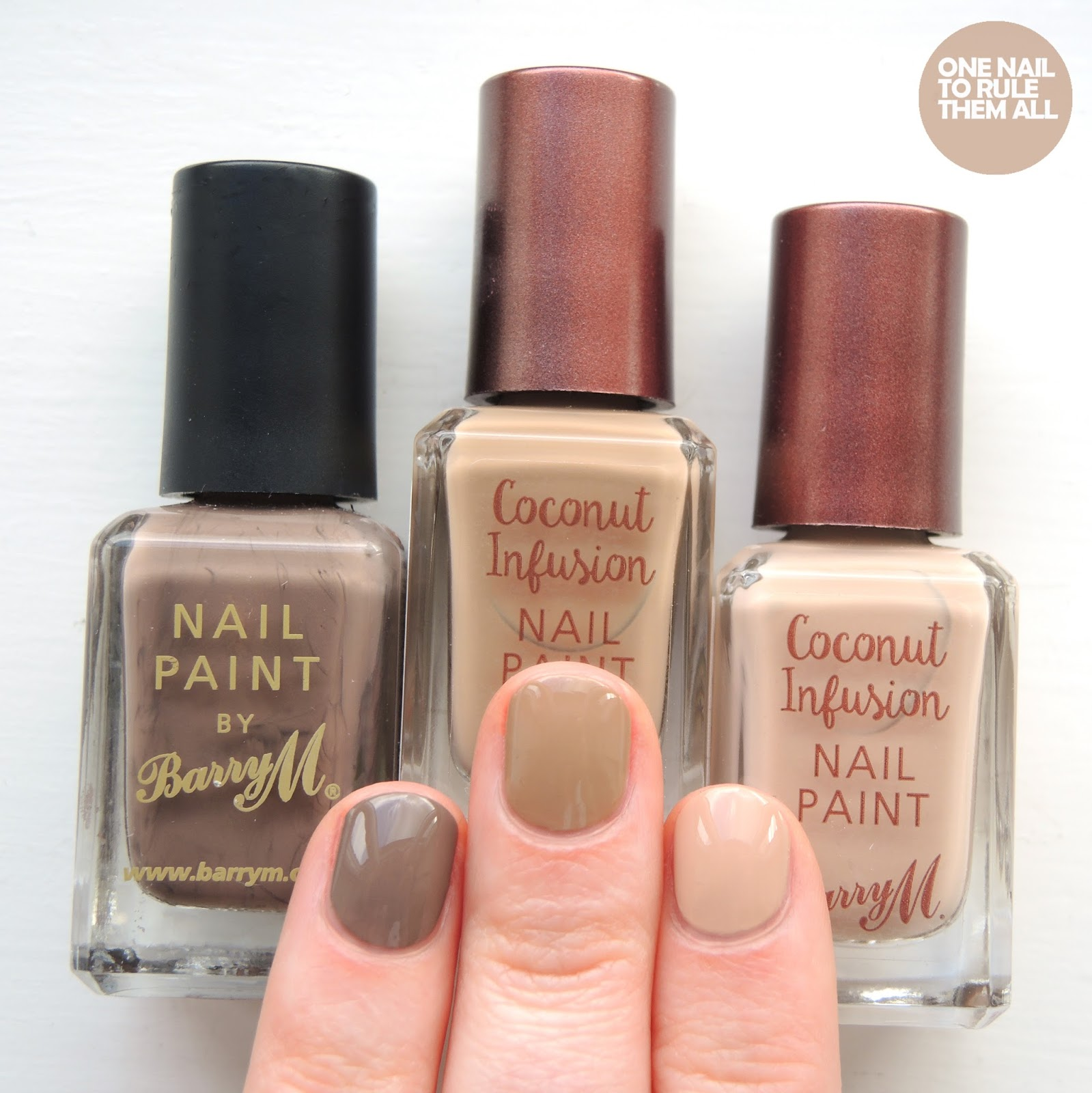 One Nail To Rule Them All Barry M Nail Art Pens Review: Coconut Infusion Full Collection Review