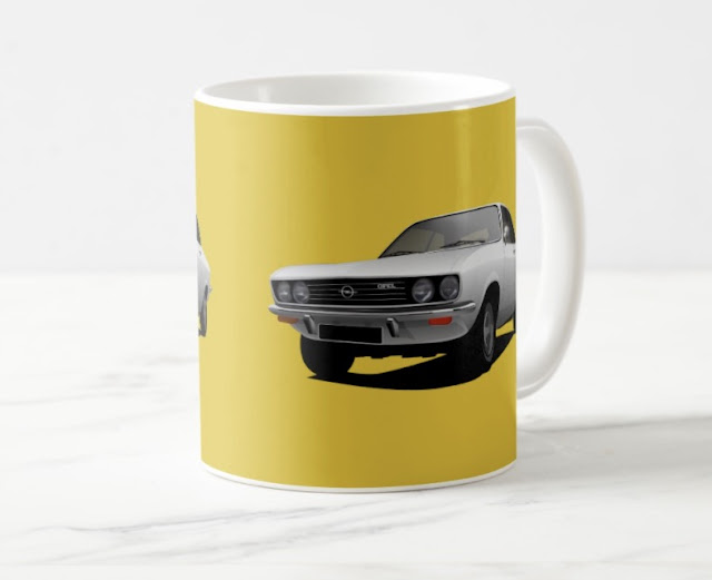 Opel Manta A two image coffee mug