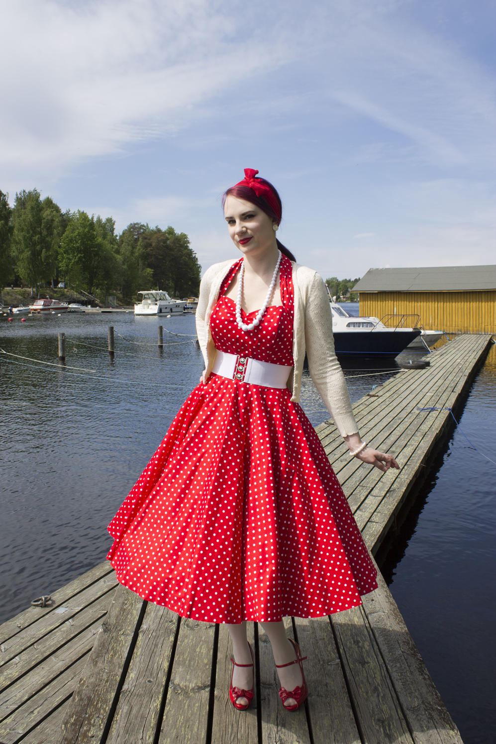 Dress  Vivien of Holloway Cardigan  King Louie Petticoats  Hell Bunny    Sams Shoes  Pinup Couture d0b75b094c