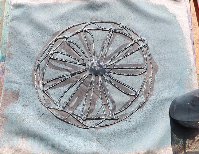 Mandala-Heißkleber-Schablonen Gelliprint nach ©muellerinart