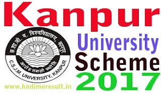 kanpuruniversity.org 2017 डेट सीट