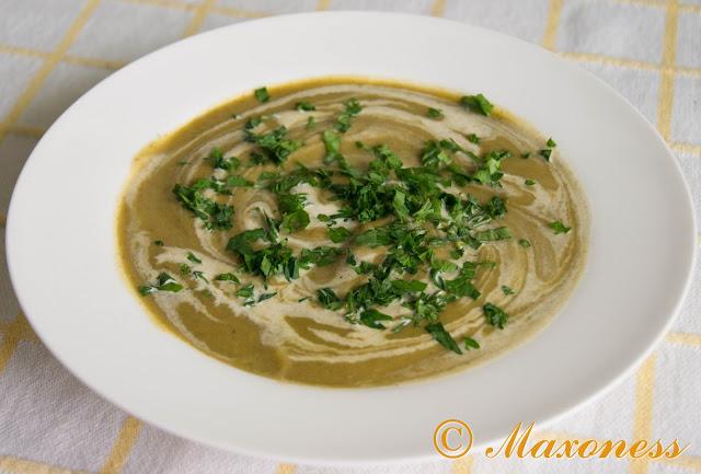 Суп со шпинатом и брокколи
