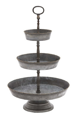 Farmhouse Style 3 tiered tray, Chic on a Shoestring Decorating