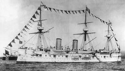 Kapal Donskoi saat berlayar di laut
