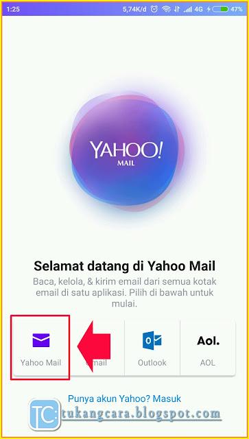 Buat Email Yahoo Lewat HP