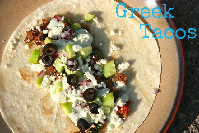 Beef Greek Tacos