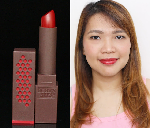 a photo of Burt's Bees 100% Natural Lipstick in Ruby Ripple
