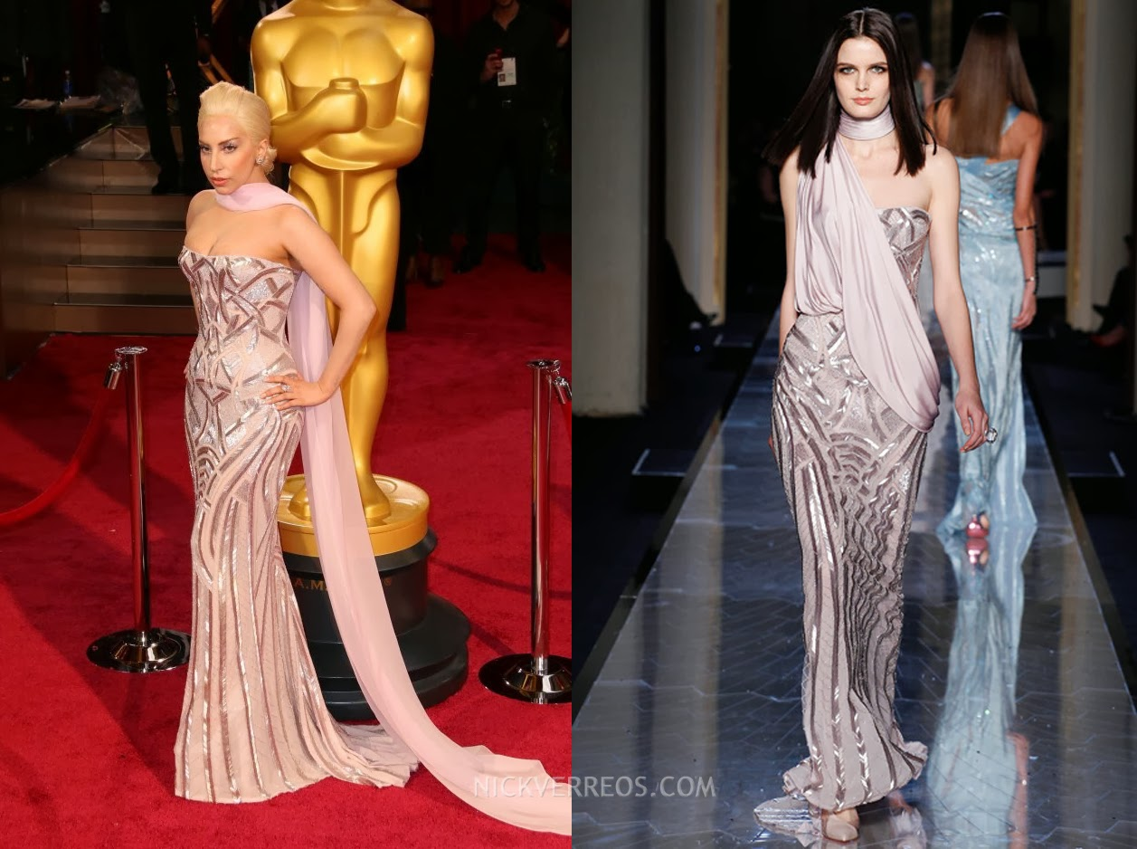 eed7526c8e23f5 WHO WORE WHAT?.....86th Annual Academy Awards: Lady Gaga in Atelier Versace  | Nick Verreos