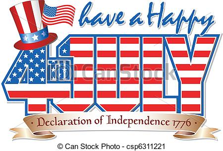 happy July 4th ClipArt Images