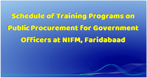 schedule-for-training-program-on-pubic-procurement-to-govt-officers