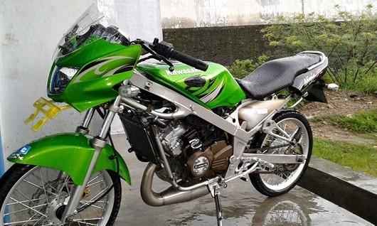 modifikasi motor ninja r warna hijau terkeren