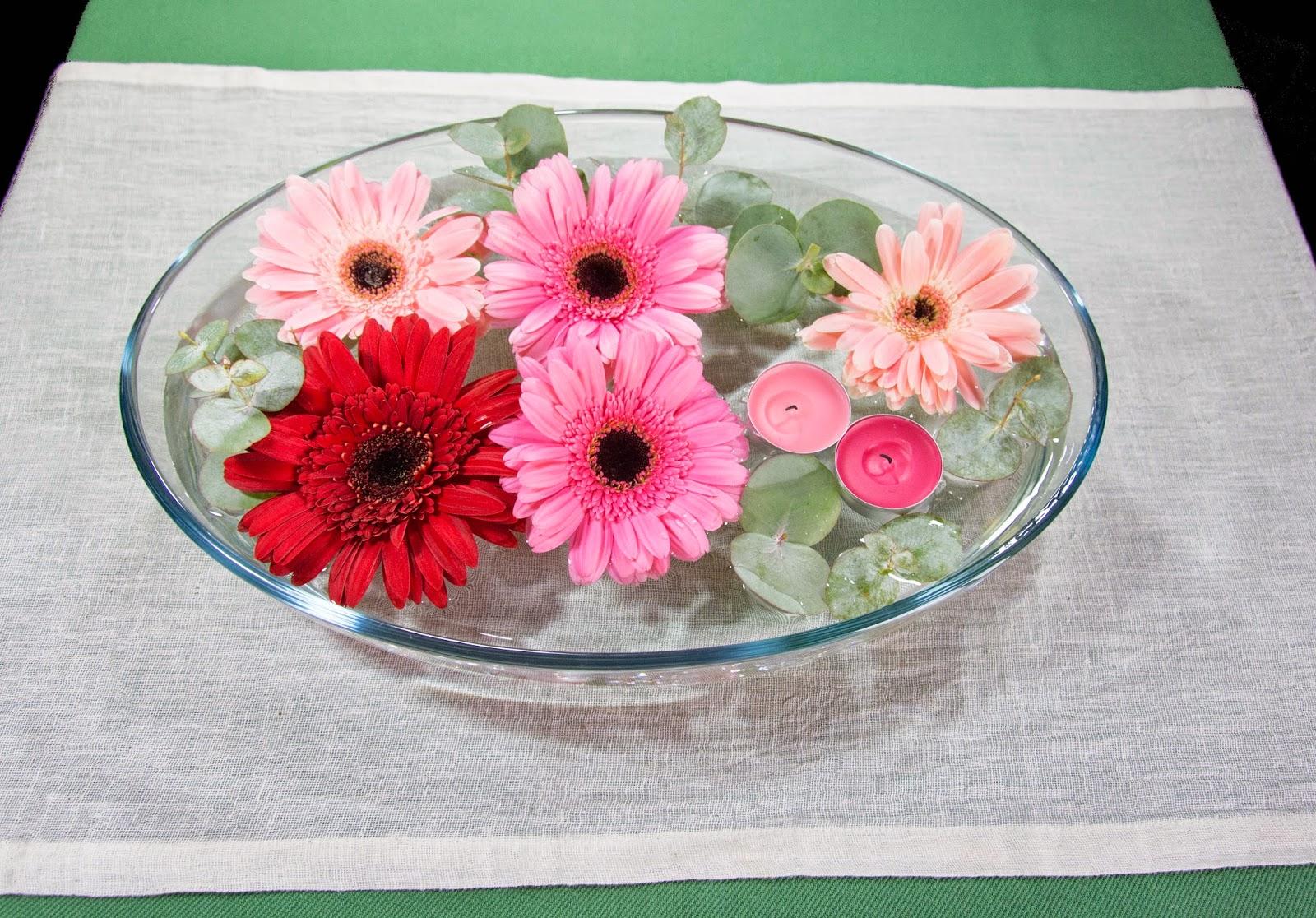 Imagenes de centros de mesa con flores naturales - Centros de rosas naturales ...