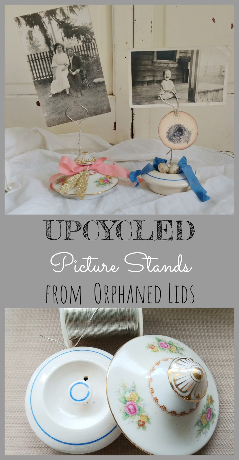 How to make picture holders with orphaned lids